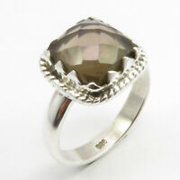Smoky Quartz Ring Size 7 Sterling Silver Fashion Jewelry
