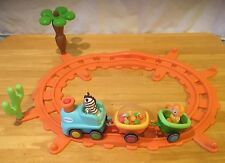Motorized Musical Train Track Cotoons France 3 Cars 14 Piece Toddler