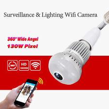 HD 360 ° Panorama 960P versteckte Wifi Kamera Glühbirne Sicherheit IP Kamera