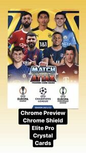 Topps Match Attax Champions League 2021/2022 Chrome Shield Pro Elite & Crystal