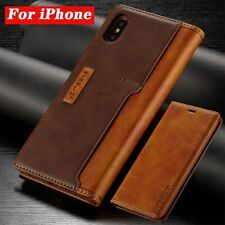 Leather Cases For Apple iPhone X XR XS MAX 8 7 6S Plus Flip Fundas Holster Case
