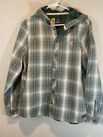 NWOT Browning Soft Lined Full Zip Hooded Jacket Green Womans Large