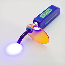 Dental Wireless Cordless LED Cure Curing Light Lamp 1500mw for Dentist Blue