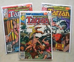 Tarzan #25 26 27 $9.00 LOT (1979-up, Marvel) 4.0 VG Stan Lee & Jack Kirby appear