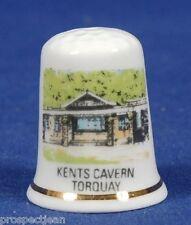 Kents Cavern Torquay Devon China Thimble B/95