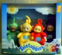 SET OF 4~NEW~PLUSH~1998~TELETUBBIES DOLLS~PLAYSKOOL~NIB