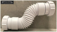 Flexible Waste Pipe Coupling Hose Adjustable for 40mm 42mm 43mm Bath Waste Pipe