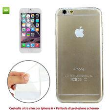 Cover Ultra Slim per Apple iPhone 6 O iPhone 6S Custodia Trasparente + Pellicola