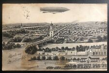 1913 Austria RPPC Postcard Cover To Konigsfeld Parseval Military Balloon