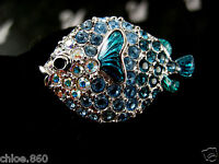 SIGNED SWAROVSKI CRYSTAL FISH  PIN /BROOCH RETIRED NEW IN BOX