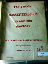 Massey Ferguson 30 30K Tractor Original Parts Manual Catalog 1952