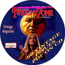 TWILIGHT ZONE MAGAZINE - 60 VINTAGE ISSUES - PDF ON CD - HORROR, SCI-FI -FANTASY