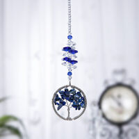 Blue Tree Of Life Crystal Suncatcher Hanging Ornament Window Pendant Decor Gift