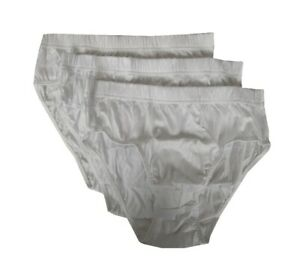 Pack of 3 mercerized cotton men's briefs NOTTINGHAM article GR3-3403 MEDIUM SIDE