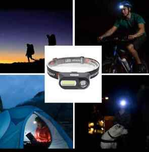 1500 Lumens Rechargeable HEAD LAMP TORCH FLASHLIGHT NEW XPE+COB + Batterry