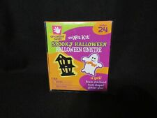 Kid's Halloween Spooky Shack Ghost & House Foam Shapes & Stickers Craft Kit