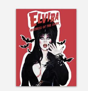 Elvira Mistress Of The Dark Horror Movie Host Vinyl Sticker Decal