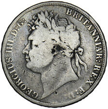 More details for 1821 crown - george iv british silver coin