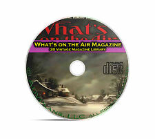 What's On The Air, 20 Classic Old Time Radio OTR Magazine Series in PDF CD B95