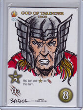 2015 UD Marvel 3-D Artist Sketch Card Nicholas Baltra Thor Avengers 1/1