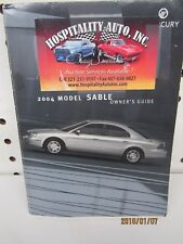 2004 Mercury Model Sable Owners Manual (book only)      FREE SHIPPING
