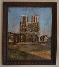 "GRUNSWEIGH Nathan (1880-) ""Le parvis de Notre-Dame de Paris"" Judaica"