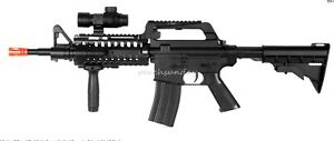 M4 RIS Spring Rifle w/ Flashlight Scope Vertical Foregrip Retractable LE Stock