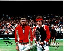 BJORN BORG and JOHN MCENROE signed autographed TENNIS photo