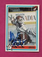 RARE OHL KITCHENER RANGERS MIKE TORCHIA   GOALIE   AUTOGRAPH CARD (INV# A3818)