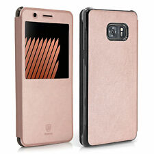 BASEUS Schutzhülle Flip Case Handy Hülle für Samsung Galaxy Note 7 - champagner
