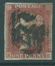 GB 1852 Penny Red SG8 KB 'Alphabet 2'