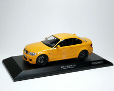 BMW 1er M Coupé Coupé e82 2011 Yellow Jaune MINICHAMPS 110020026 1:18 le 504 PC.