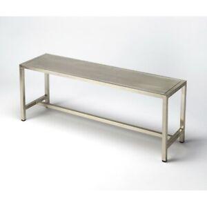 Butler Tribeca Iron Bench, Silver - 6125025