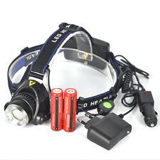 5000Lm XM-L T6 LED 3-Modes 18650 Zoom Headlamp Headlight Head Torch Line-Switch