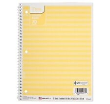 Mead One Subject Note Book Spiral College Ruled Yellow Stripe Pack of 7