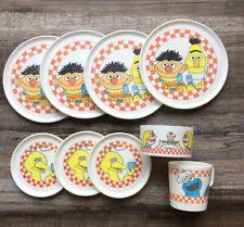 Vintage 9 Piece Sesame Street Chilton Globe Plastic Muppets Toy Teat Set