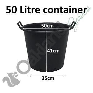 1 x 50 Litre Plant Tree Pot With Handles Heavy Duty 50L Lt Big Large Plastic