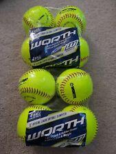 "Total 8 Softballs New Lot Of 2 Worth 12"" Official League Softballs 4 Packs"