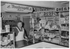 Old Photo.  Interior of German Grocery Store