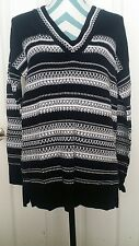 NWT• Vince black and white Women's Casual/Career sweater 100% cotton size XS