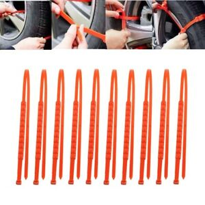 10X Universal 175-295mm Off Road Car Truck Snow Anti-slip Wheel Tire Chains New