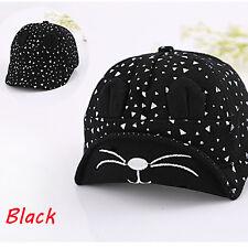 Fashion Toddler Infant Sun Cotton Cap Baby Girls Boys Summer Beach Hat Berets Black