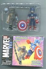 Marvel Minimates CAPTAIN AMERICA ABSORBING MAN 2-PACK NEW Open Box