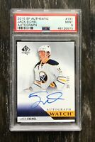 2015-16 UD SP Authentic Future Watch Auto Jack Eichel PSA 9 Mint Autograph
