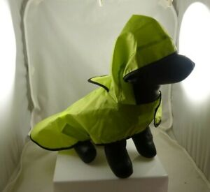 green raincoat for dog pet clothes outift doggy small coat