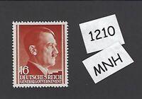 #1210     MNH 1941 stamp 16 Gr / Adolph Hitler /  Occupied Poland / Third Reich