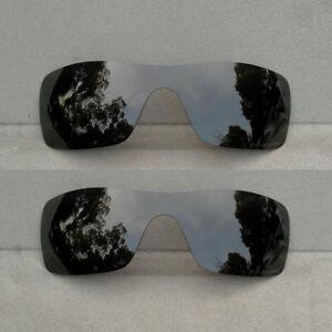 2 Pieces Black Replacement Lenses for-Oakley Batwolf Sunglasses Polarized
