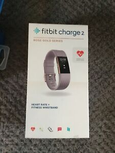 Fitbit charge 2 With Rose Gold Strap - Brand New