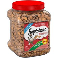 TEMPTATIONS MixUps Treats for Cats BACKYARD COOKOUT Flavor 30 Ounces, With Our