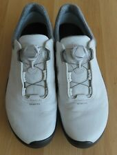 ECCO Biom G3 BOA spiked Golf Shoes size 44 (Ext Wide) Shadow White worn once